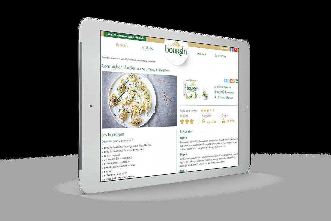 Mockup iPad Boursin