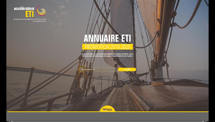 Maquette de l'annuaire ETI